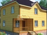 Проект дома из бруса №113 8х9