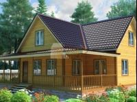 Проект дома из бруса №116 11х12