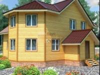 Проект дома из бруса №117 11х12