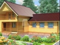 Проект дома из бруса №114 9х14